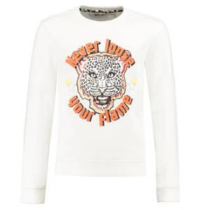 GARCIA             Sweatshirt, Leoprint, Schriftzug, für Mädchen