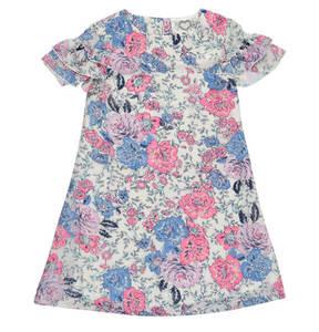 JETTE by STACCATO             Kleid, Blumenmuster, Volant-Ärmel, leicht, für Mädchen