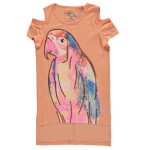 JETTE by STACCATO             T-Shirt, Papageien-Print, langer Rücken, Pailletten, für Mädchen