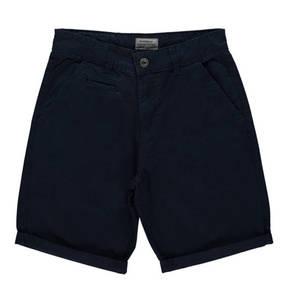manguun teens             Shorts, uni, umgeschlagener Saum, Baumwolle, für Jungen