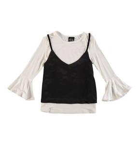 JETTE by STACCATO             Shirt, 3/4-Arm, Satin-Top, Volantärmel, für Mädchen