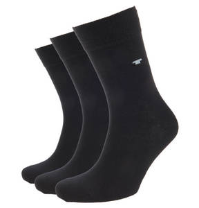 TOM TAILOR             Socken, 3er-Pack, uni, Logo