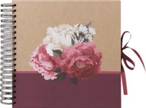 Paradies Ringalbum DIY 25x25 cm Blumen