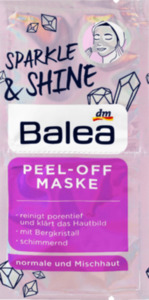 Balea Peel off Maske Sparkle & Shine