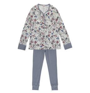 ESPRIT             Schlafanzug, lang, elastischer Saum, Blumen-Design, für Mädchen