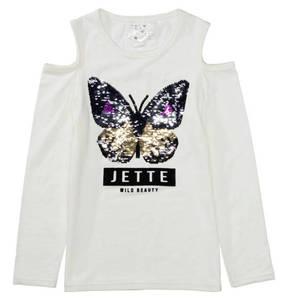 JETTE by STACCATO             Langarmshirt, Wendepailleten, für Mädchen