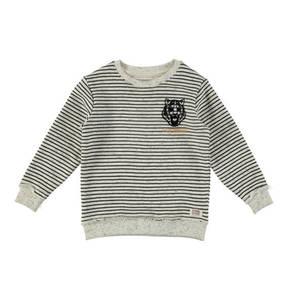 BASEFIELD             Sweatshirt, Flock-Print, Streifen, für Jungen