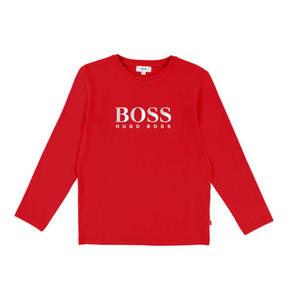 BOSS             Langarmshirt, 3D-Print, unifarben, Baumwolle, für Jungen