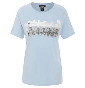 DKNY             T-Shirt, Baumwolle, Logo-Print, Strass