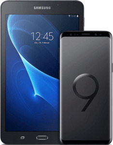 Samsung Galaxy S9+ mit Tablet schwarz