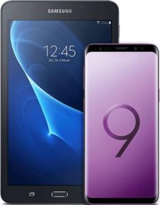 Samsung Galaxy S9 mit Tablet lila