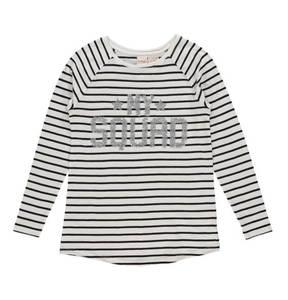manguun teens             Langarmshirt, Bio-Baumwolle, Pailletten, für Mädchen