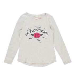 manguun teens             Langarmshirt, Halloween-Print, Glitzer, für Mädchen