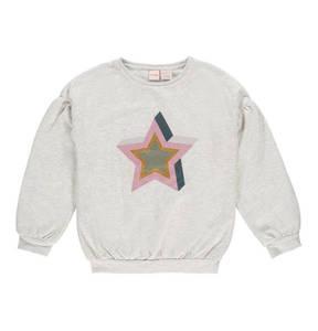 manguun teens             Sweatshirt, Glitzer-Sterne, Ballonärmel, für Mädchen
