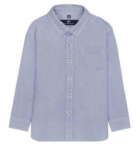 BASEFIELD             Hemd,Oxford blau, Brusttasche, für Jungen