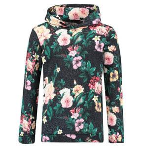 GARCIA             Sweatshirt, Kapuze, Blumenprint, Baumwolle, für Mädchen