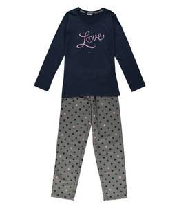 ESPRIT             Schlafanzug, lang, Herz-Print, für Mädchen
