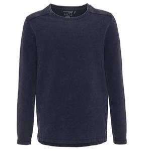 manguun teens             Longsleeves, Baumwolle, verlängerter Rücken, uni, für Jungen