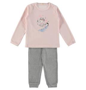 ESPRIT             Schlafanzug, Eisprinzessin-Pinguin-Print, für Mädchen
