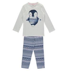 ESPRIT             Schlafanzug, lang, Pinguin-Motiv, Norweger-Muster, für Mädchen