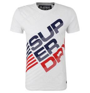 Superdry             T-Shirt, Feuchtigkeitstransport, Baumwolle, Front-Print, für Herren