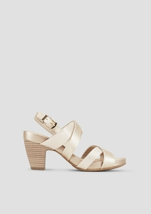Sandaletten mit Metallic-Effekt