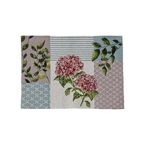 Home Gobelin-Platz-Set mit Blumen-Motiv, ca. 32x45cm