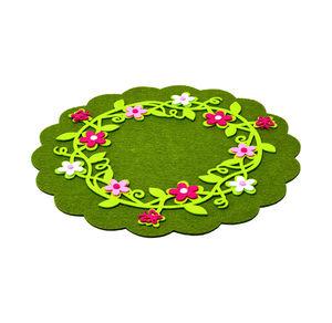 Home Platzset mit Blumen-Applikationen, Ø ca. 33cm