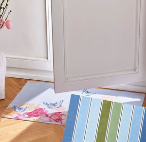 Home Teppich mit Frühlings-Fotodruck, ca. 50x80cm
