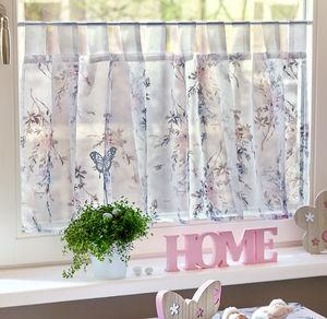 Home Bistrogardine mit Blumenmuster, ca. 50x140cm