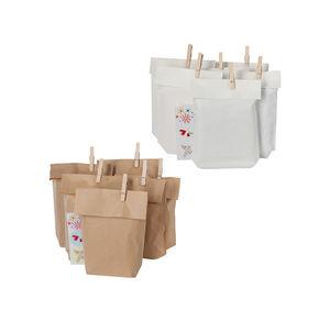 Geschenktüten-Set aus Kraftpapier, ca. 16x26cm, 6er Set