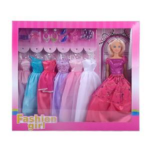 Fashionpuppe mit 7 Outfits