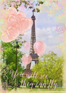 Ravensburger Puzzle - Luftballons am Eiffelturm, 1000 Teile