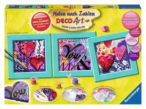 Ravensburger Malen nach Zahlen Deco - Deco Art Herzen