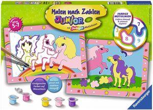 Ravensburger Malen nach Zahlen Junior - Süße Ponys