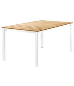 Sieger Exclusiv-Tisch mit FSC-Teakholz-Tischplatte, 165 x 95 cm