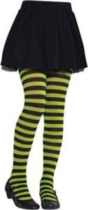 Kinder-Strumpfhose grün-schwarz-gestreift Gr. 104 Mädchen Kleinkinder
