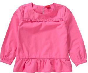 Kinder Langarmbluse mit Volants und Rüschen Gr. 140 Mädchen Kinder