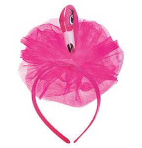 Karnevals Fries             Haarreif Flamingo