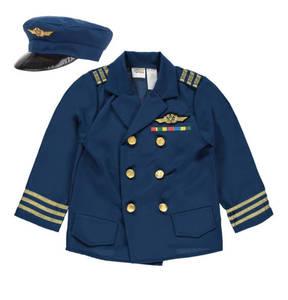 Crazy Days             Kostüm, Pilot, Uniform & Mütze (2-tlg. Set), für Kinder