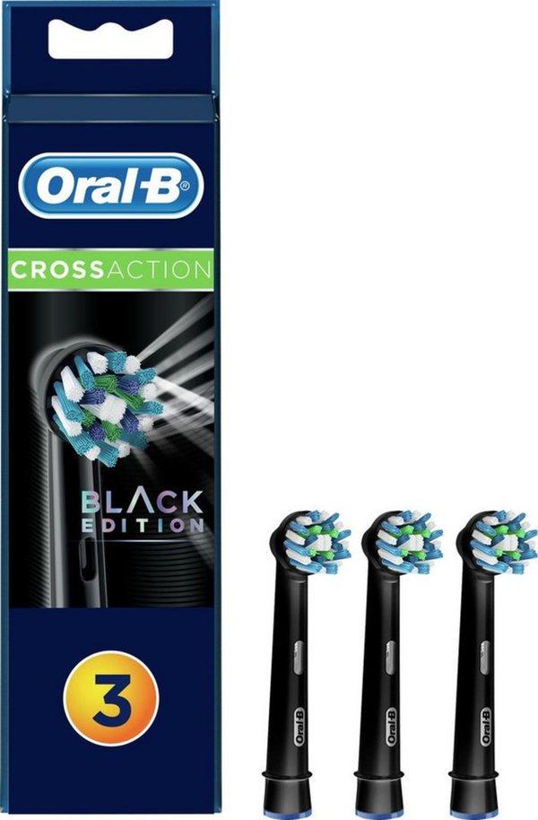 Oral B Aufsteckbürsten »CrossAction Black Edition«, in verschiedenen Ausführungen