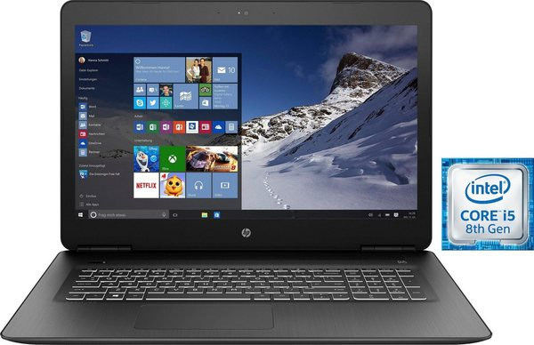 HP Pavilion 17-ab424ng Notebook (43,9 cm/17,3 Zoll, Intel Core i5, GeForce®, 1000 GB HDD, 128 GB SSD, inkl. Office 365 Personal (ESD)