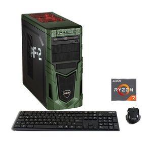HYRICAN Gaming PC Ryzen™ 7 2700, 16GB, SSD + HDD GeForce® GTX 1070 »MilitaryGaming 6090«