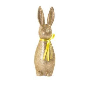 Deko-Figur Glitter Rabbit Goldfarben