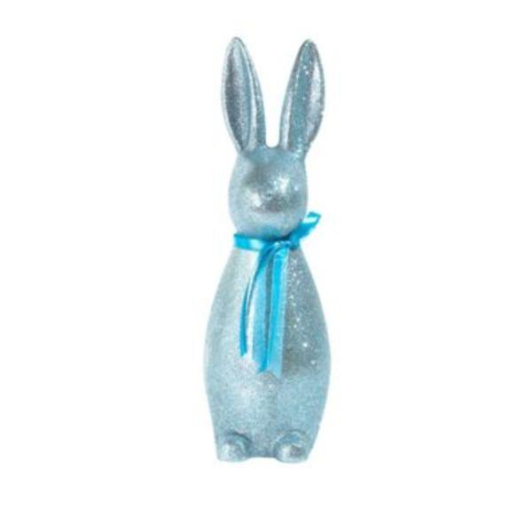 Deko-Figur Glitter Rabbit Blau