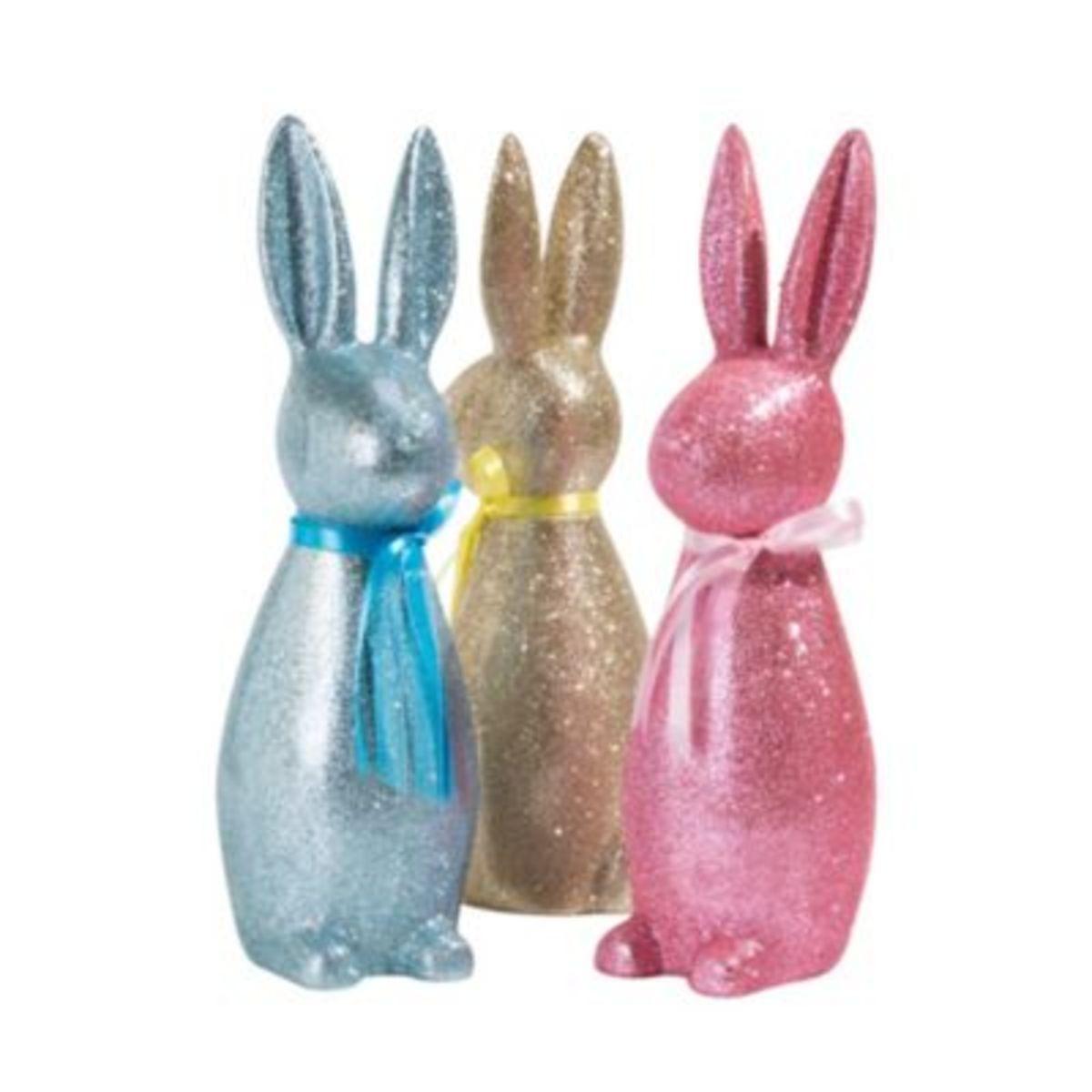 Bild 2 von Deko-Figur Glitter Rabbit Blau