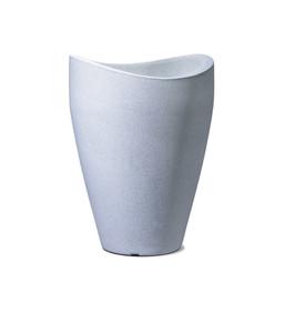 Scheurich Kunststoff Vase, rund, weiß-granit