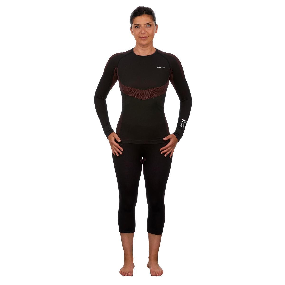 Bild 2 von Skiunterwäsche Funktionsshirt 900 Damen schwarz rosa