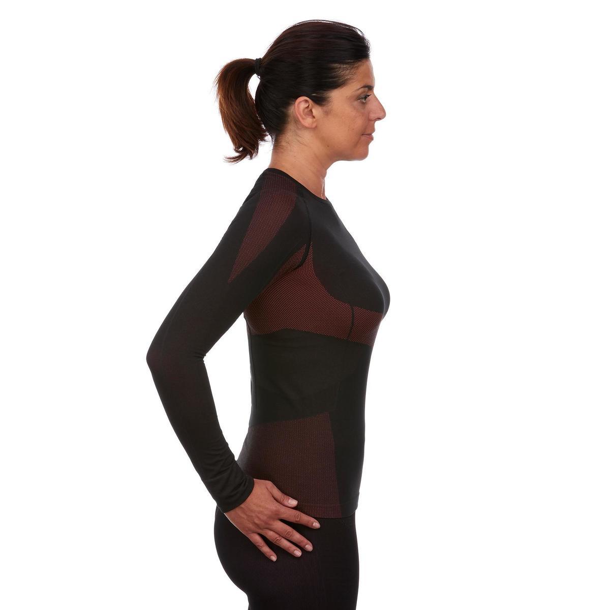 Bild 4 von Skiunterwäsche Funktionsshirt 900 Damen schwarz rosa