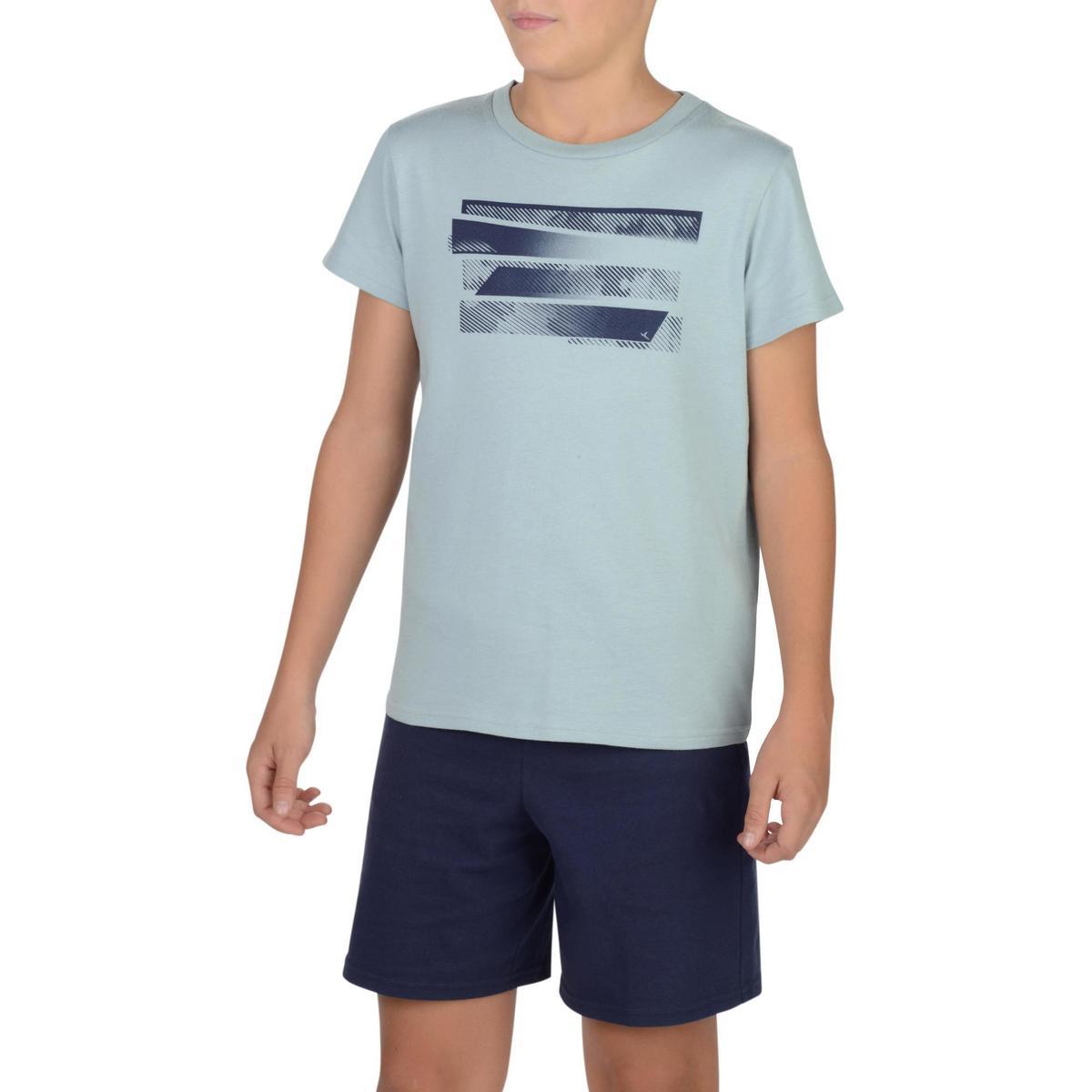 Bild 2 von T-Shirt 100 Gym Kinder grau mit Print